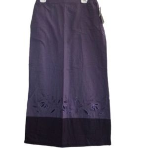 NEW! Embroidered Shades of Purple Skirt by Stunt